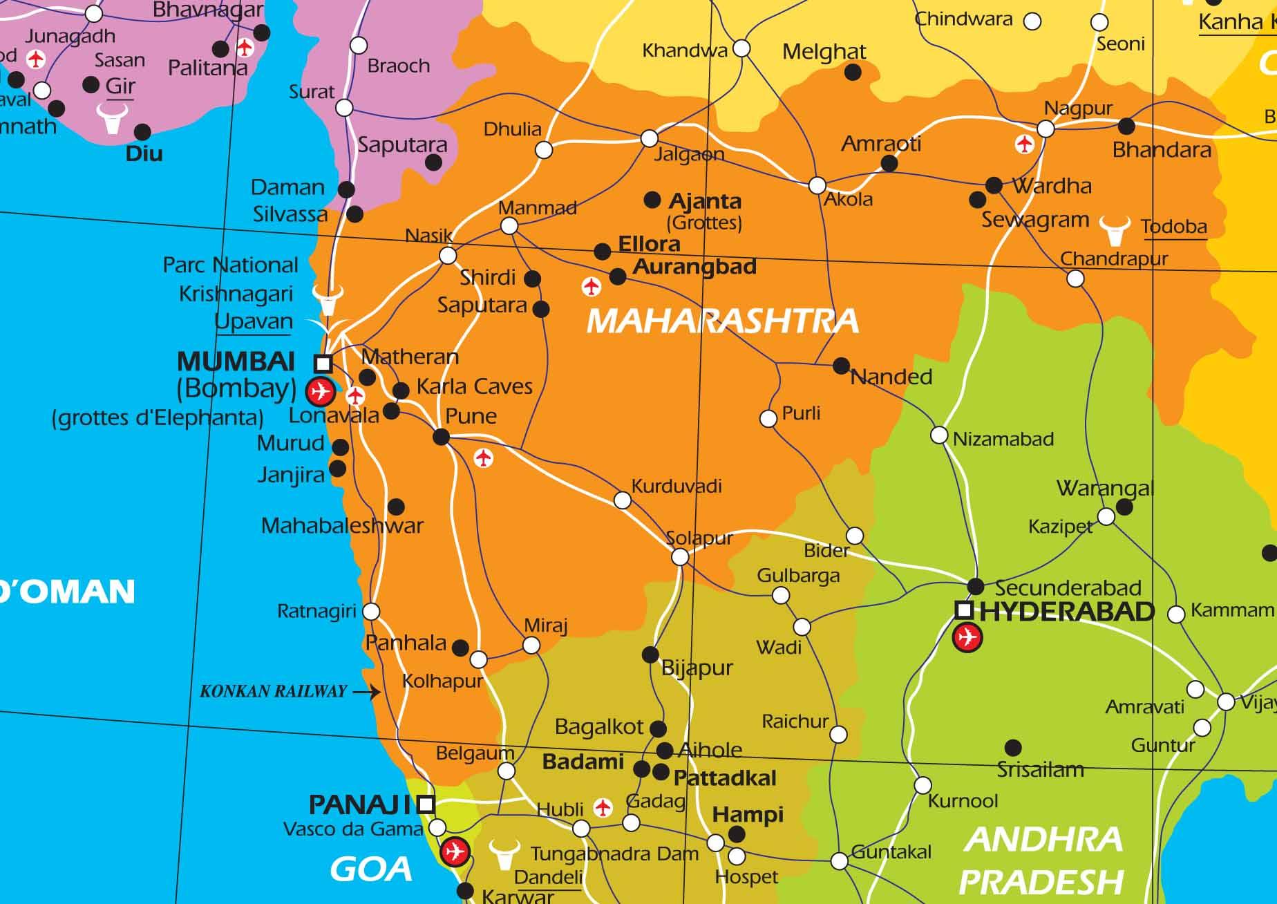 Carte De Linde De Louest.Circuit Prive En Inde Infos Pratiques Sur L Inde Et Sur Le