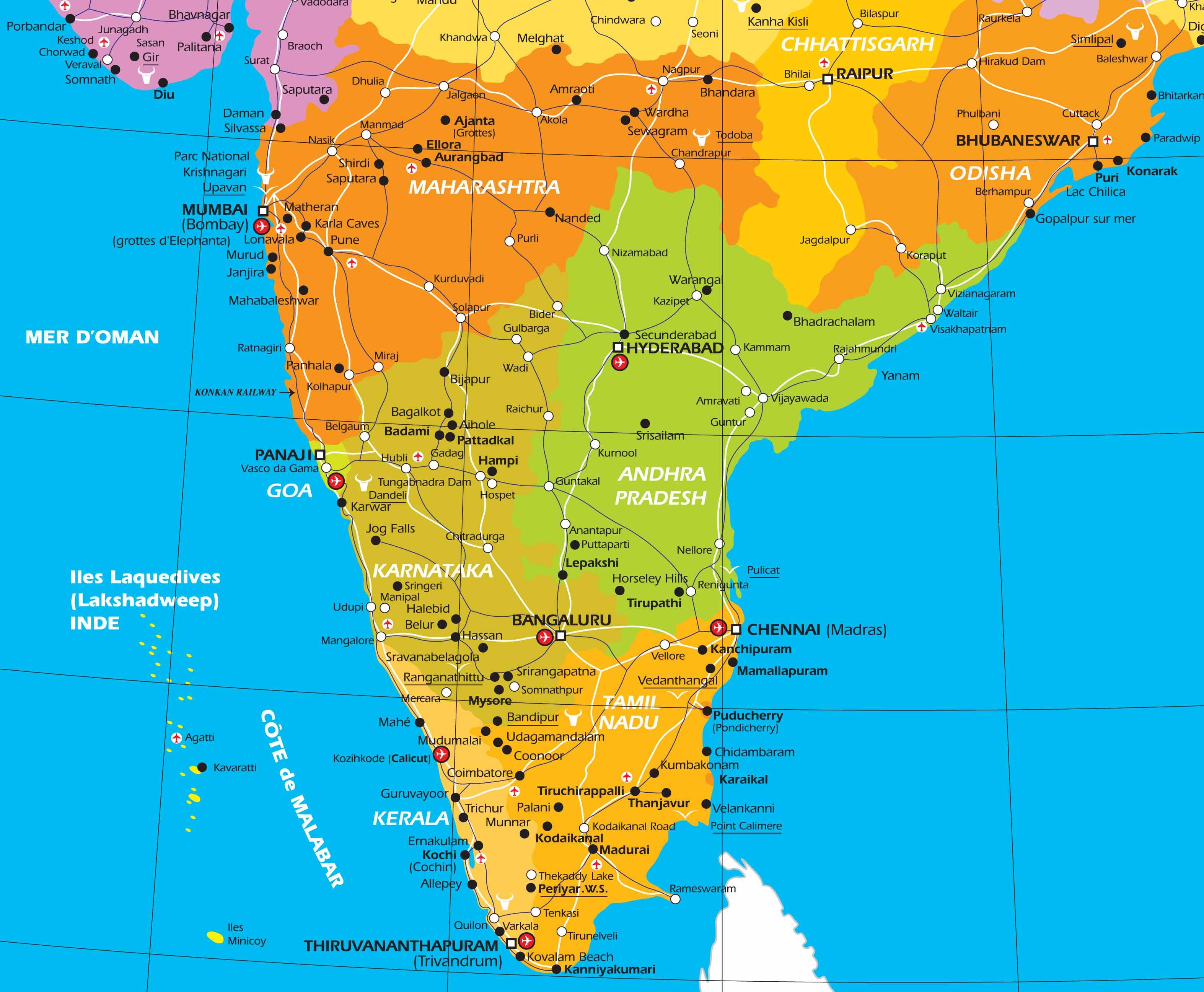 Carte Du Sud Est De Linde.Circuit Prive En Inde Infos Pratiques Sur L Inde Et Sur Le Nepal